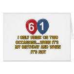 61 year old birthday designs card