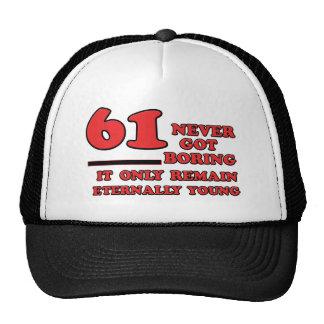 61 year old birthday designs trucker hat