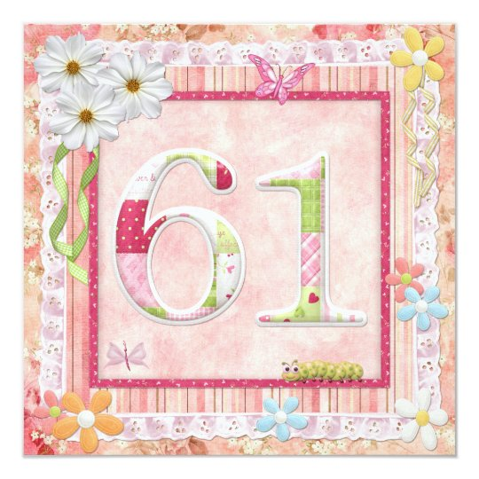 61st birthday party scrapbooking style card