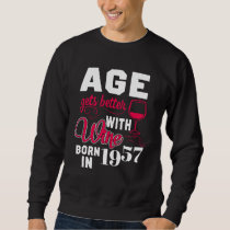 61st Birthday T-Shirt For Wine Lover.