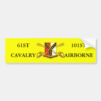 61ST CAVALRY 101ST AIRBORNE BUMPER STICKER