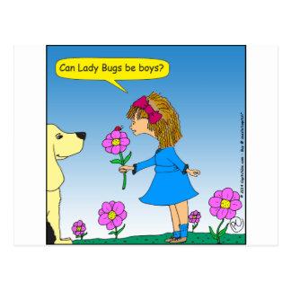 623 lady bug boy cartoon postcard