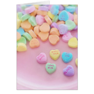 626 PASTEL CANDY HEARTS LOVE SAY YES SOULMATES CUT CARD