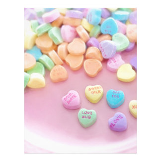 626 PASTEL CANDY HEARTS LOVE SAY YES SOULMATES CUT LETTERHEAD