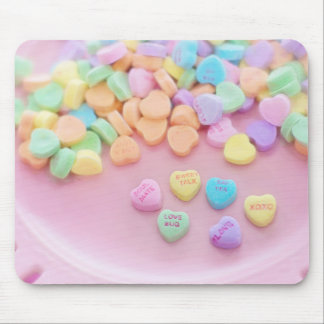 626 PASTEL CANDY HEARTS LOVE SAY YES SOULMATES CUT MOUSE PAD