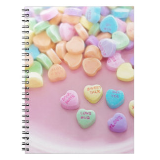 626 PASTEL CANDY HEARTS LOVE SAY YES SOULMATES CUT NOTEBOOK
