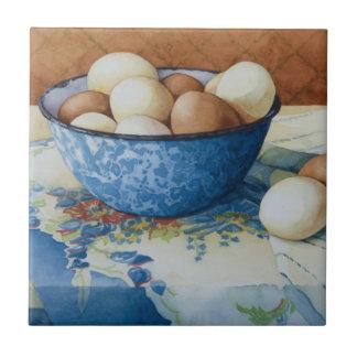 6293 Eggs in Enamelware Bowl Tile