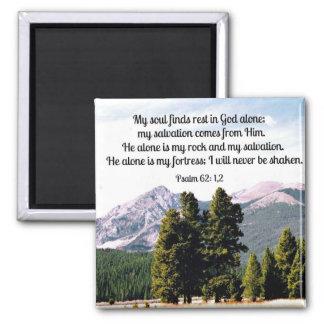 62:1,2 del salmo imán cuadrado
