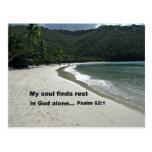 62:1 del salmo tarjetas postales