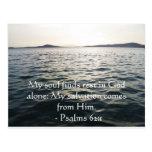 62:1 inspirado de los salmos de la cita de la bibl postales