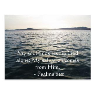 62 1 inspirado de los salmos de la cita de la bibl postales