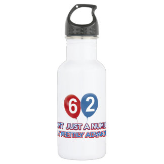 62 aint just a number stainless steel water bottle