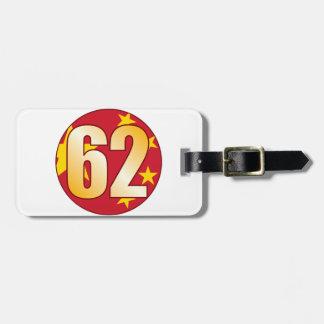 62 CHINA Gold Bag Tag