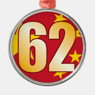62 CHINA Gold Metal Ornament
