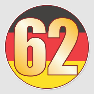 62 GERMANY Gold Classic Round Sticker