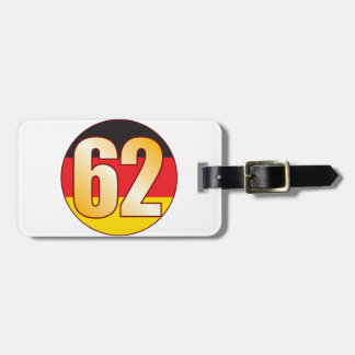 62 GERMANY Gold Luggage Tag