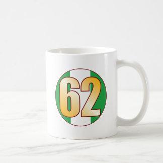 62 NIGERIA Gold Coffee Mug