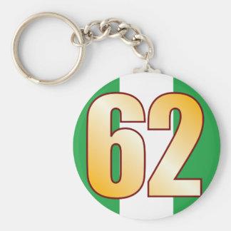 62 NIGERIA Gold Keychain