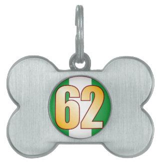 62 NIGERIA Gold Pet Tag
