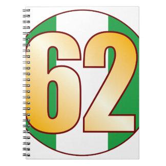 62 NIGERIA Gold Spiral Notebook