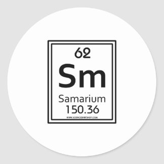 62 Samarium Classic Round Sticker