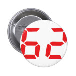 62 sixty-two red alarm clock digital number buttons