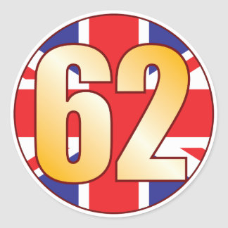 62 UK Gold Classic Round Sticker