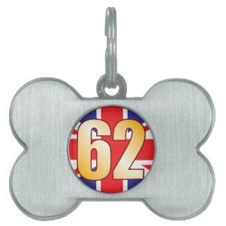 62 UK Gold Pet Tag