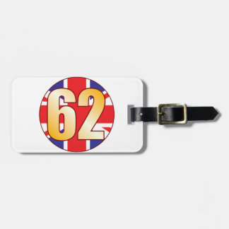 62 UK Gold Tag For Luggage