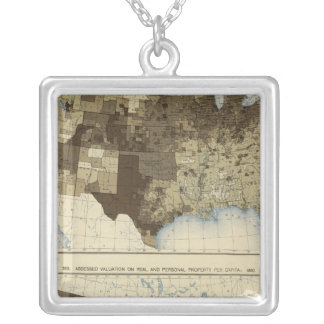 62 Valuation, real estate, personal property 1890 Square Pendant Necklace