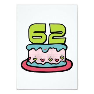 62 Year Old Birthday Cake Card