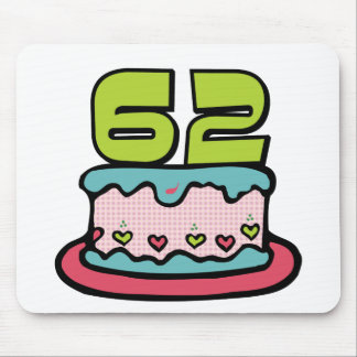 62 Year Old Birthday Cake Mouse Pad