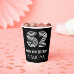 """[ Thumbnail: 62nd Birthday — Art Deco Inspired Look """"62"""" + Name ]"""