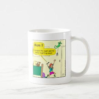 630 gecko floss leash cartoon coffee mug