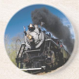 630 steam coming over remote trestle coaster