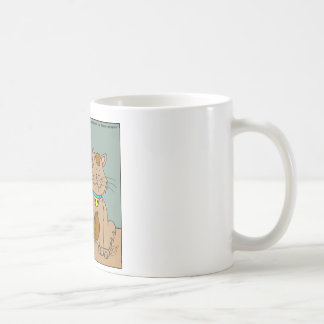 631 Cat ate computer mouse cartoon Coffee Mug