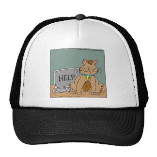 631 computer mouse help cartoon trucker hats