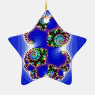 631 ROYAL BLUE FRACTAL ART DIGITAL BACKGROUNDS WAL CERAMIC ORNAMENT