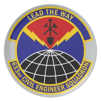 633rd Civil Engineer Squadron - Lead The Way Melamine Plate