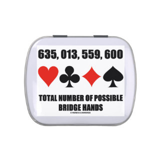 635,013,559,600 Total No Of Possible Bridge Hands Jelly Belly Tins