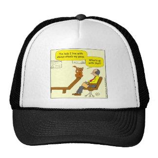 635 steals my poop cartoon trucker hat