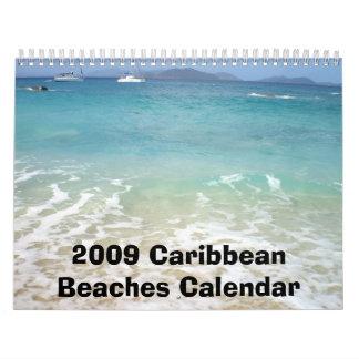 636, 2009 Caribbean Beaches Calendar