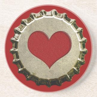 6375_red-heart-bottle-cap-topGraphic CORAZÓN ROJO  Posavasos Cerveza