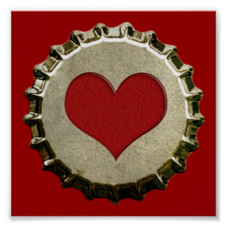 6375_red-heart-bottle-cap-topGraphic CORAZÓN ROJO  Póster