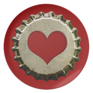 6375_red-heart-bottle-cap-topGraphic RED HEART BOT Dinner Plates