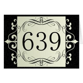 639 Area Code Greeting Card