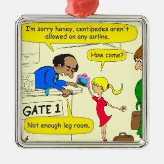 639 no leg room on airlines cartoon metal ornament