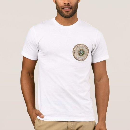 "[63.3] Round Tibetan ""OM"" Mantra Mandala T-Shirt"