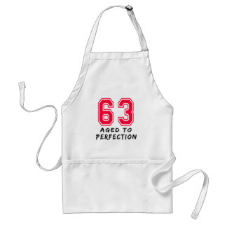 63 Aged To Perfection Birthday Design Adult Apron