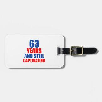 63 birthday design tag for luggage